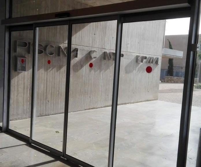 Puerta de cristal corredizas peatonales automáticas sistema FR evacuación
