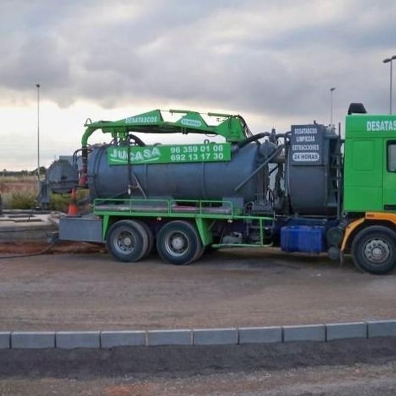 Camiones cuba: Trabajos realizados  de Desatascos y Extracciones Merino