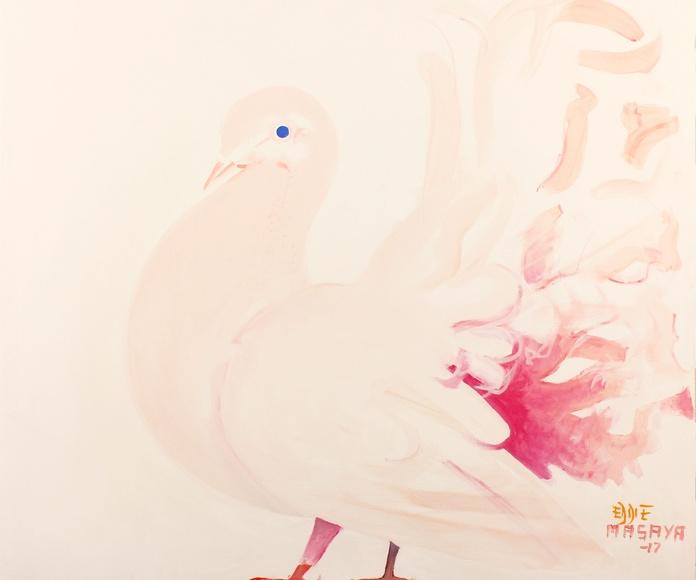PINK-PIGEON-83X88cm
