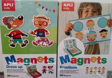 Puzzles magnéticos Dress up, Emotions, City Cards y Seasons