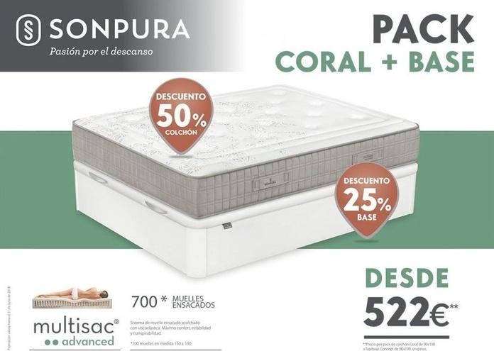 Promoción Coral + base
