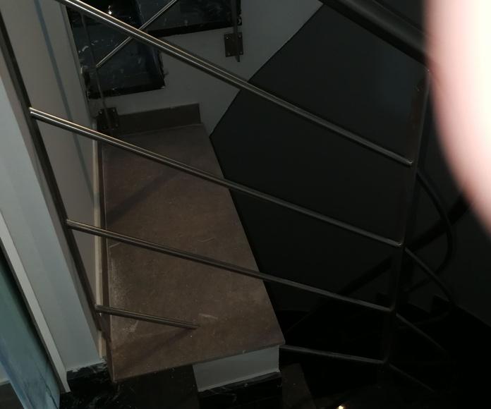 Barandilla con curvatura helicoidal