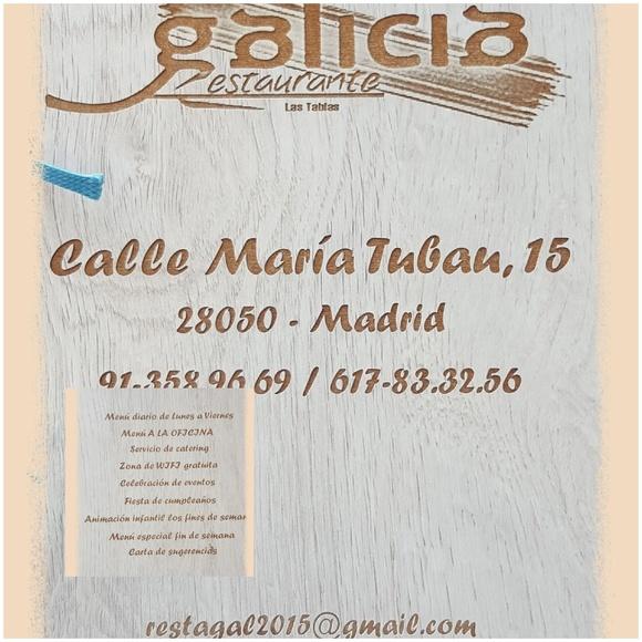 NUESTRA CARTA : Carta de Restaurante Galicia Las Tablas