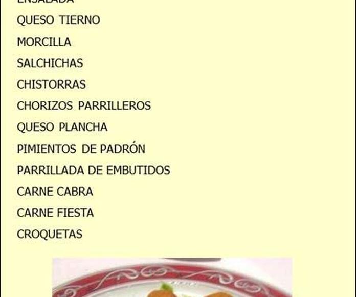Entrantes: Servicios de Restaurante las Palmeras de Fasnia