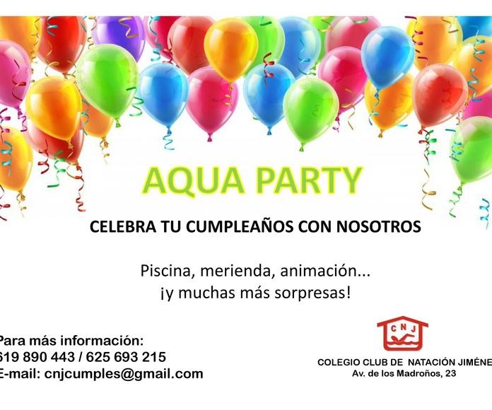 AQUA PARTY: Nuestras actividades de Club Natación Jiménez