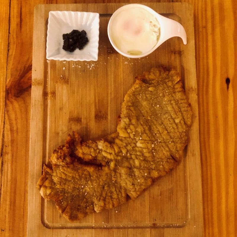 Escalope de ternera con trufa y huevo poché: CARTA y Menús de Alquimia