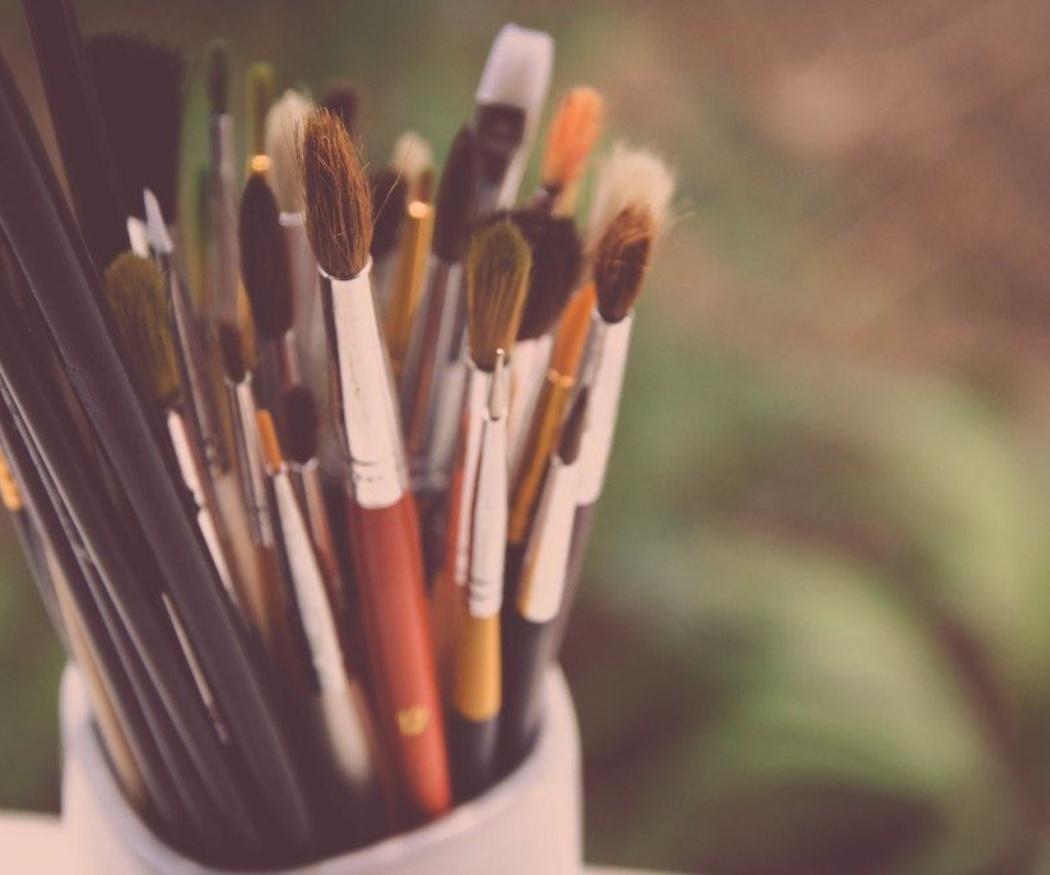 La limpieza de los pinceles que utilizas para pintar con óleo