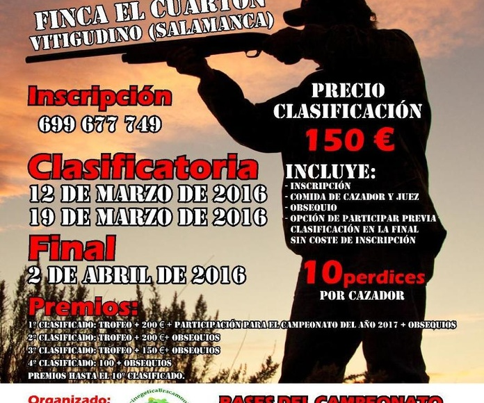 CAMPEONATO DE CAZA MENOR CON PERRO 2016 EN SALAMANCA