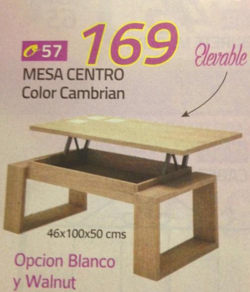 mesa centro mod.57: Productos  de Muebles Llueca, S. L.