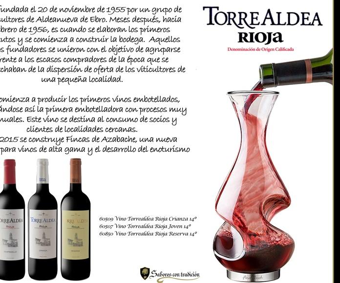 """Vinos """" Viñedos de Aldeanueva Torrealdea """": Productos de Sabores con tradición"""