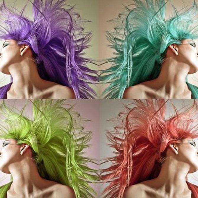 Colores fantasía para el pelo