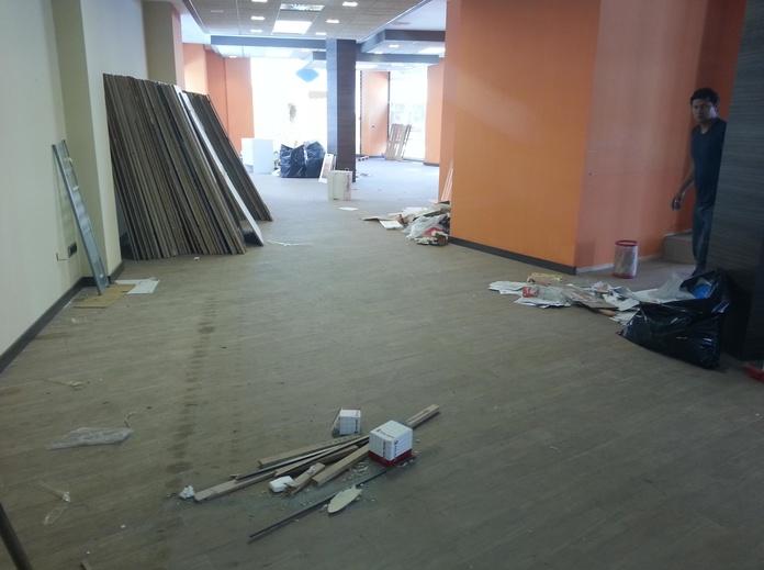 Limpieza de nuevas instalaciones.