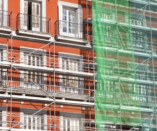Los trabajos de rehabilitación de fachadas