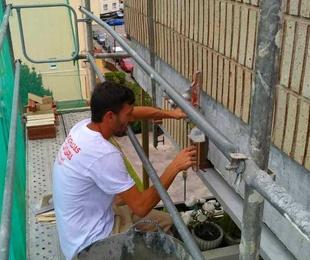 Reparacion de fachada de ladrillo caravista en Santander