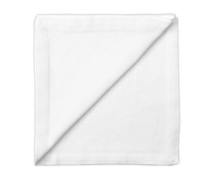 Servilleta color blanco 50 cm x 50 cm: Alquiler de Mantelería & Menaje