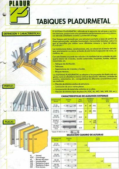 Tabique pladur metal 72/400