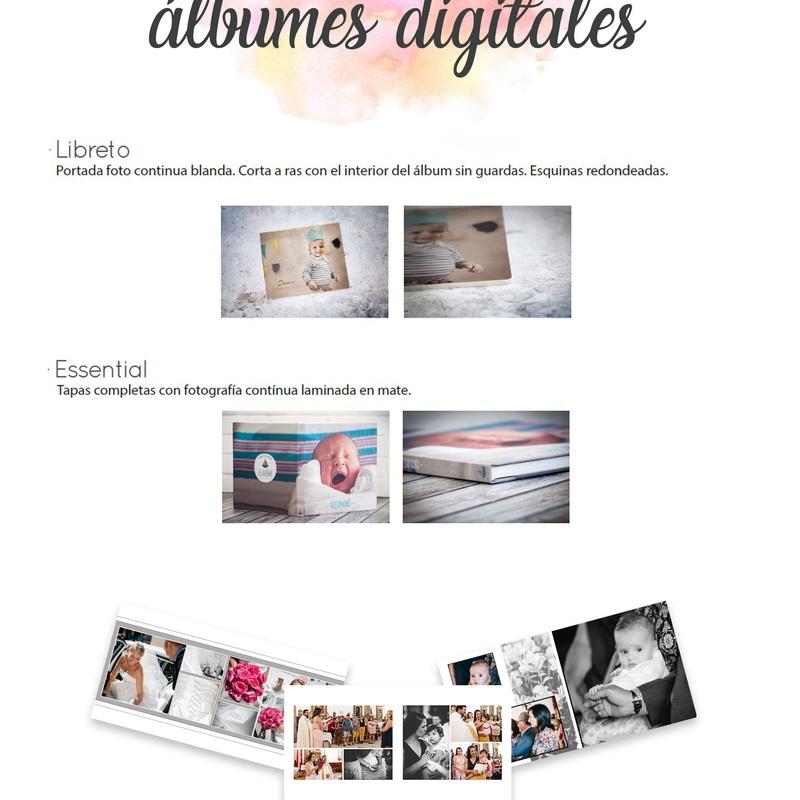 Maquetación de álbumes digitales: Servicios de Foto Antonio