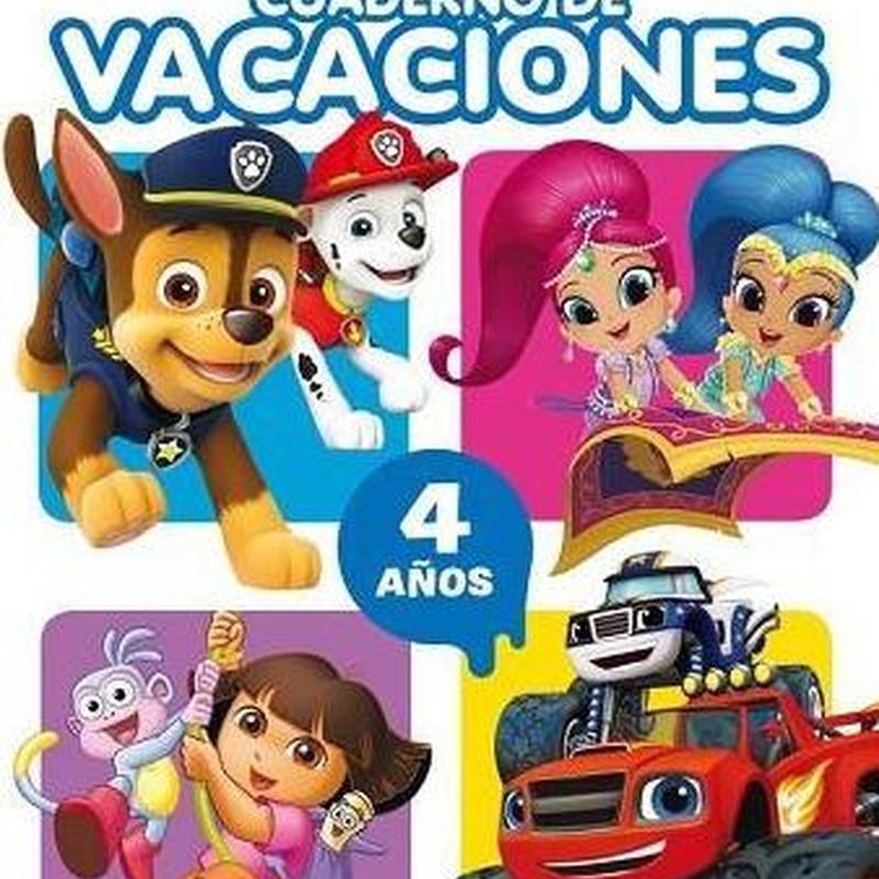 Cuaderno de vacaciones Nickelodeon 4 años 9788437201474