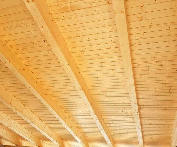 Techo de madera casa de campo