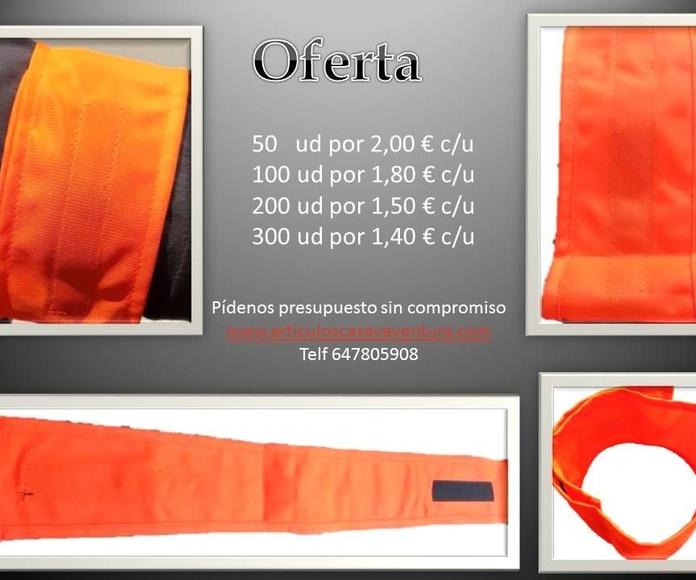 Brazaletes en color naranja, fabricados artesanalmente: Tienda online de Artículos de Caza