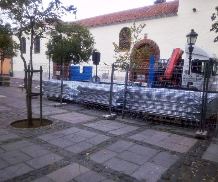 Montaje en Plaza del Adelantado La Laguna