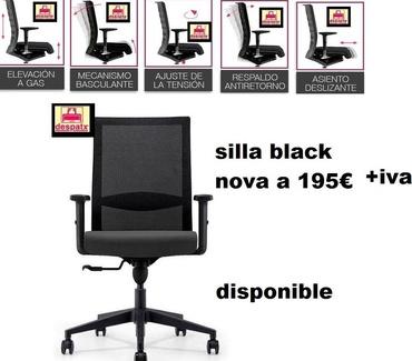 silla tele trabajo black nova