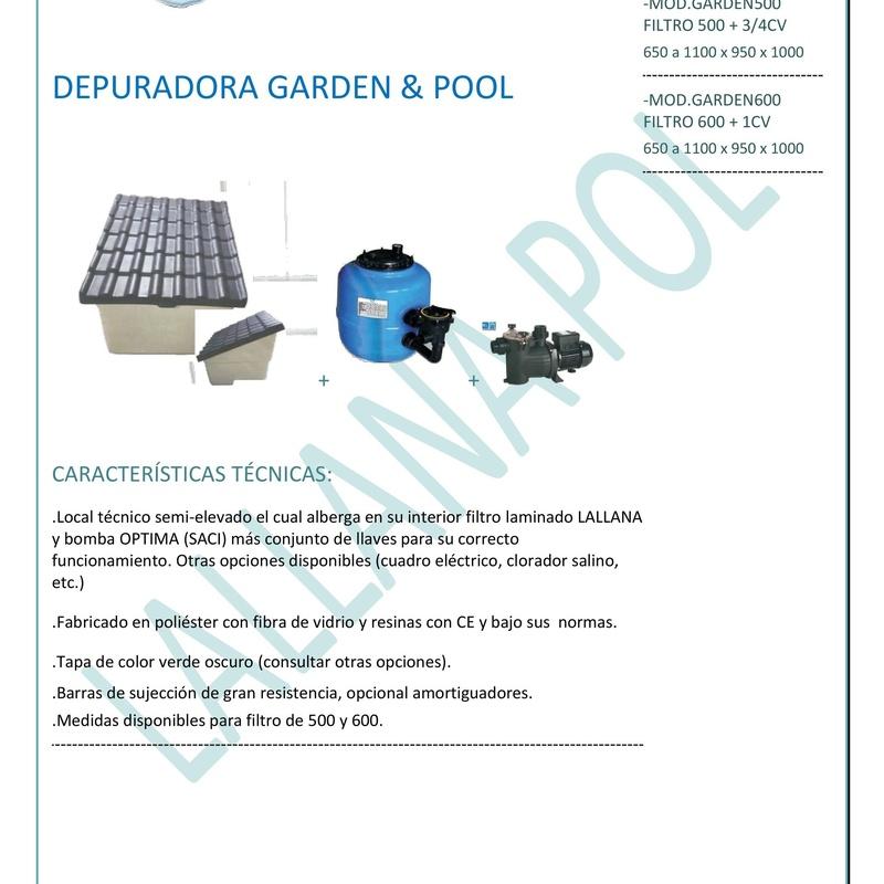 Casetas y Depuradoras para piscinas Garden&Pool: Productos y servicios de Lallana Pol