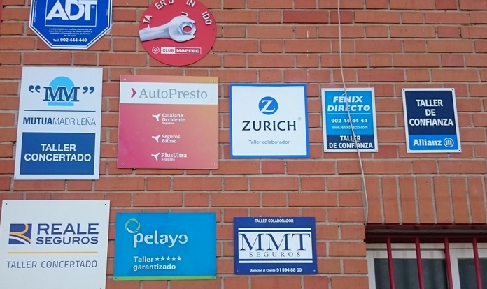 Trabajamos con la mayoría de compañías aseguradoras: NUESTROS SERVICIOS de TALLERES MAYTE & CAB AUTOMOCIÓN
