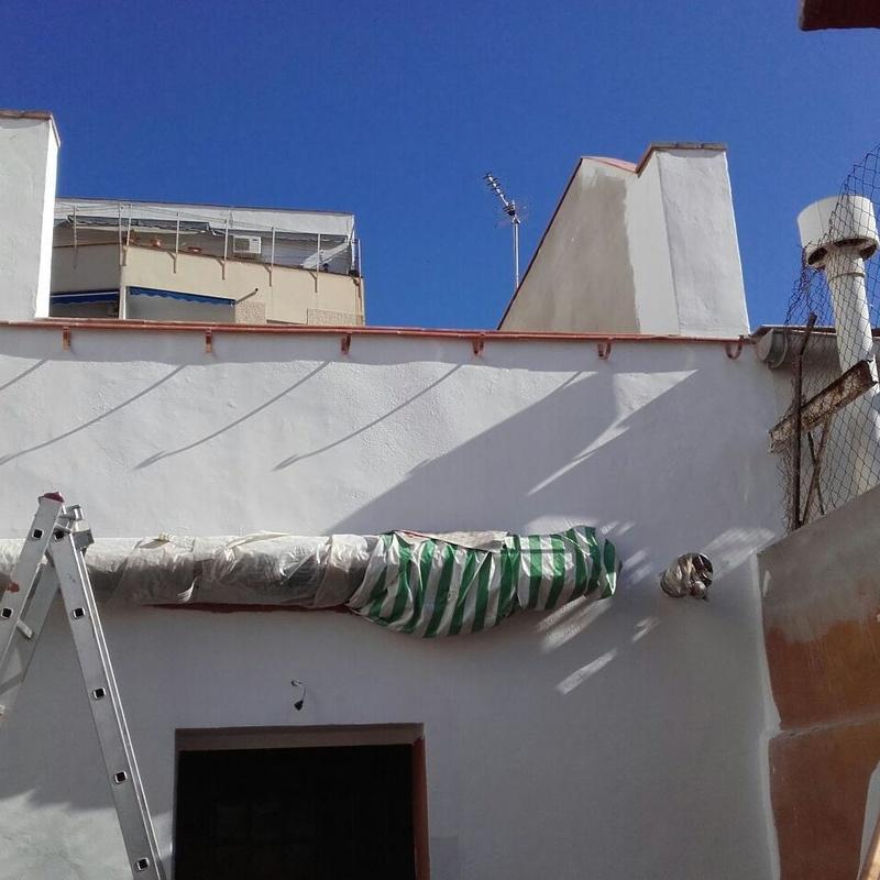 canalón de cobre en Malaga