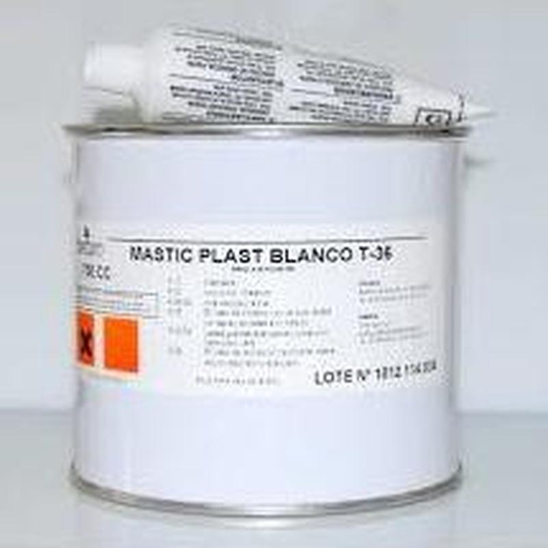 Masilla tixo blanca T36 + Catalizador en almacén de pinturas en pueblo nuevo.