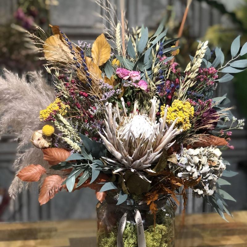 Jarrón de cristal con asa de cuerda: Productos de Floristería Miriam