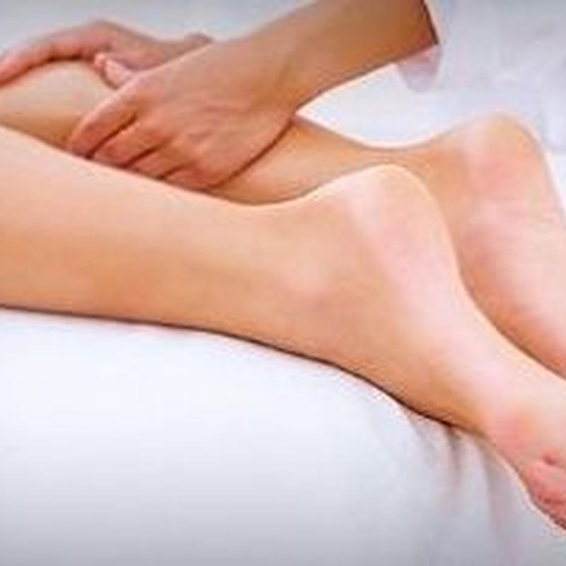 Masaje circulatorio de piernas