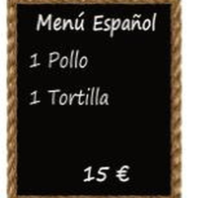 MENÚ ESPAÑOL: Nuestros Menús de El Tostaíto