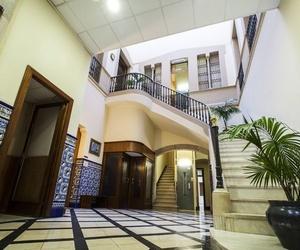 Recepción de la residencia de estudiantes en Barcelona