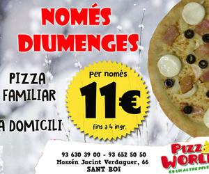 Restaurante pizzería en Sant Boi de Llobregat   Pizza World