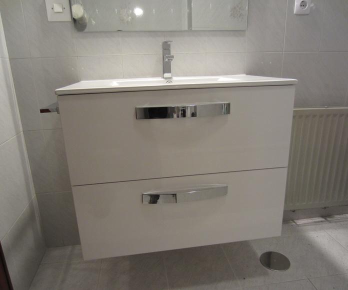 Mueble de baño sin patas