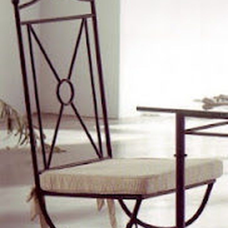 Silla Vitoria: Catálogo de muebles de forja de Forja Manuel Jiménez