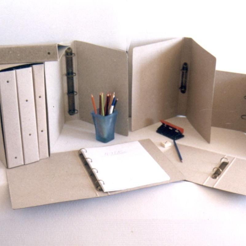 Carpeta anillas cartón reciclado