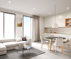 Salón-cocina de Edificio residencial.