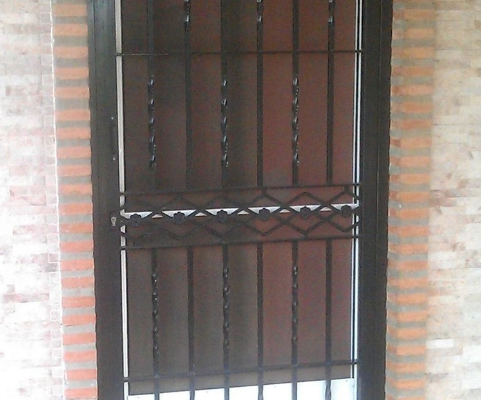Puerta reja de hierro de 1 hoja abatible