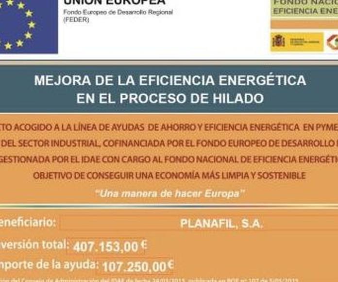 Mejora de la eficiencia energética en el proceso de hilado
