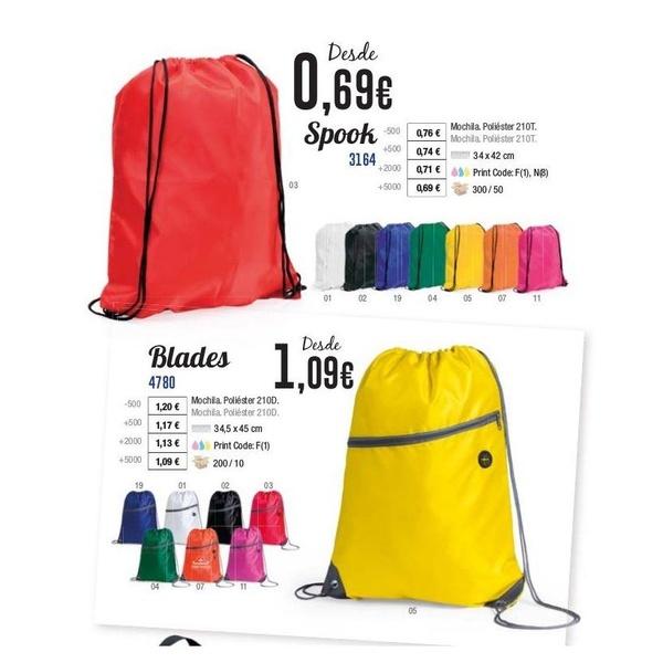Mochilas: Catálogo de Productos  de Grupo Marketing y Publicidad, S.L.