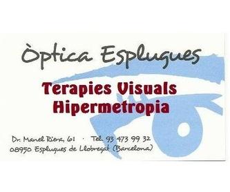 La Terapia Visual: Servicios de Óptica Esplugues