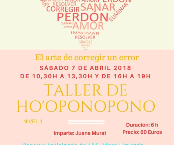Taller Hoponopono Shambhala Alicante