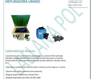 Casetas y Depuradoras para piscinas mod. Urano Semienterrada