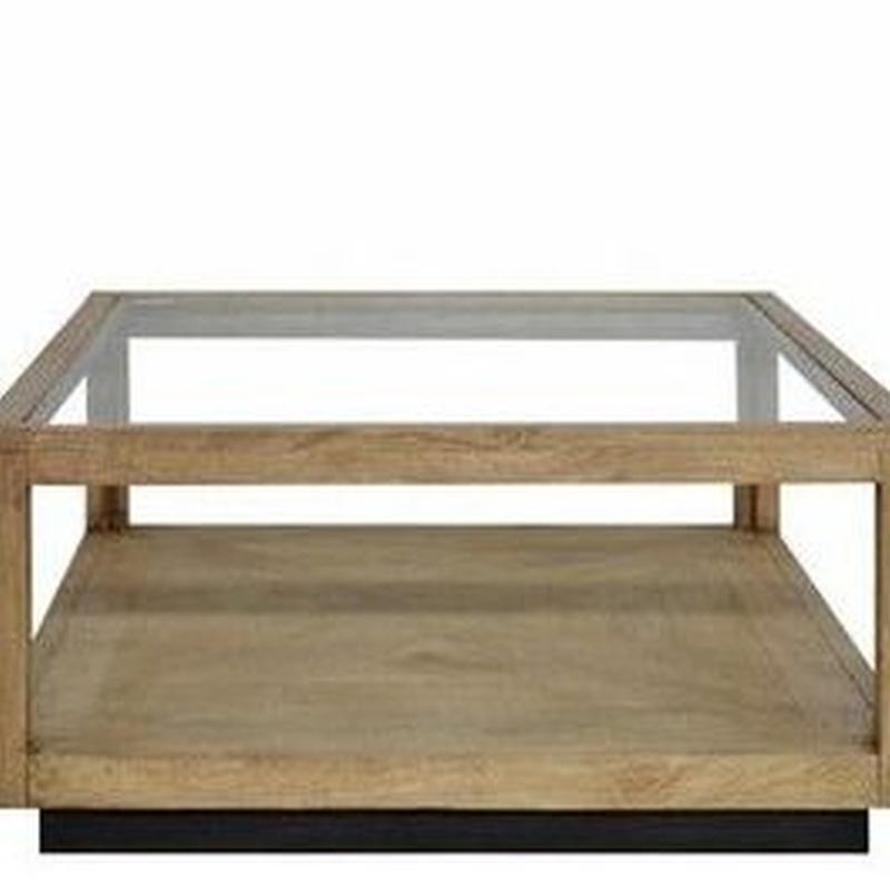 Mesa centro madera cristal AD-PGCT29A /AD-PGCT29: Catálogo of Ste Odile Decoración