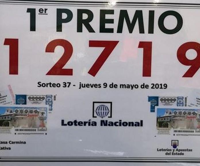 Primer Premio Loteria Nacional Jueves