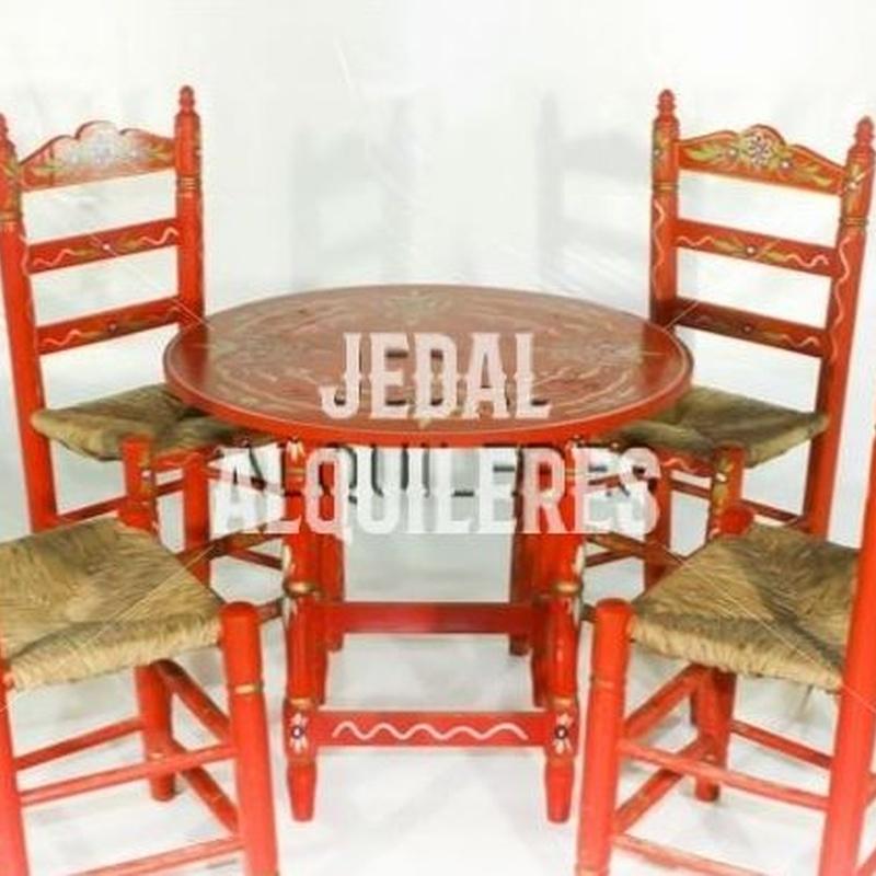 CONJUNTO MESA Y SILLAS SEVILLANAS: Catálogo de Jedal Alquileres