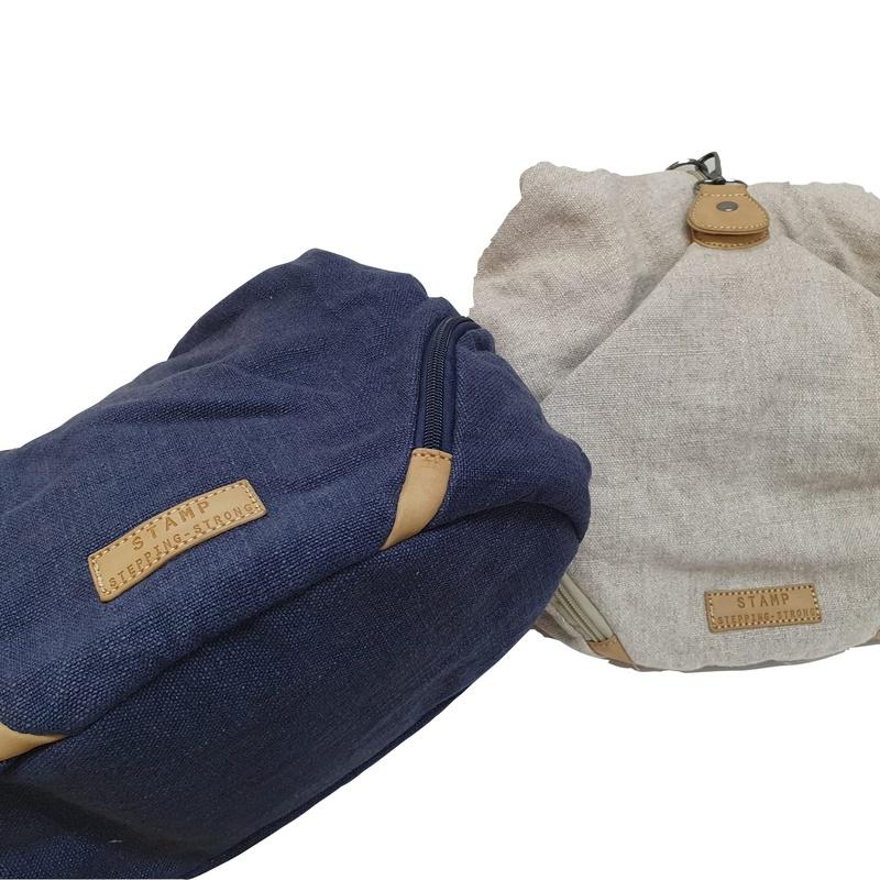 bolso lona azul y beige 3.jpg