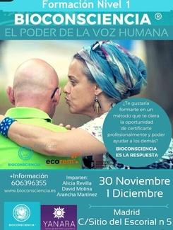 30 NOVIEMBRE FORMACIÓN BIOCONSCIENCIA EN MADRID
